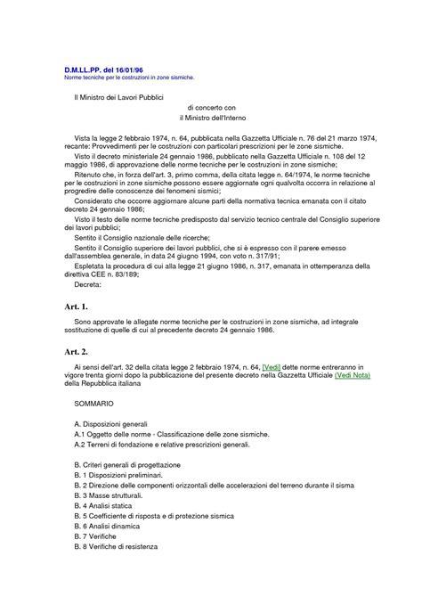 Tecnica Delle Costruzioni Dispense Costruzioni Sismiche Norme D M Ll Pp 16 01 96 Dispense