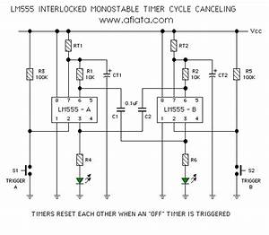 Lm555 Circuit Monostable Timers Part 15