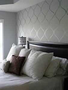 Graue Tapete Schlafzimmer : 50 wundersch ne interieur ideen mit designer tapeten ~ Michelbontemps.com Haus und Dekorationen
