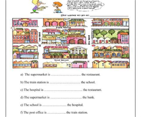 places   town prepositions  place