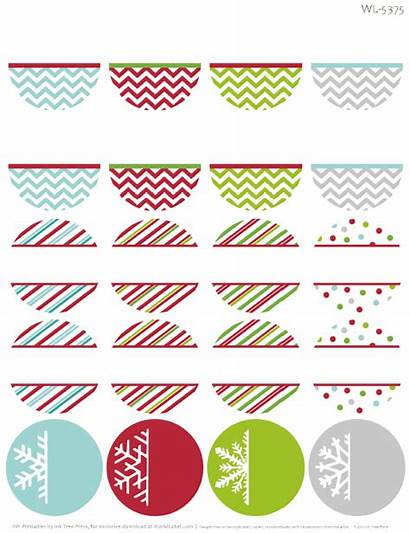 Labels Printable Address Holiday Christmas Label Template