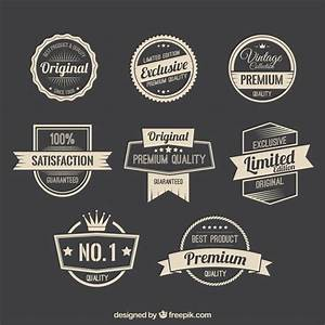 Retro promotion badges Vector   Free Download
