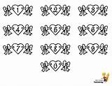 Valentine Hearts Numbers Alphabets Letters Coloring Chart Pages Alphabet Template Yescoloring Boys Lovin sketch template