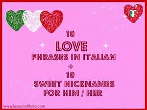 Romantic Italian Phrases Italian Love Sayings And Phrases ...