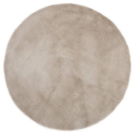 tapis pilepoil en fausse fourrure forme rond tapis