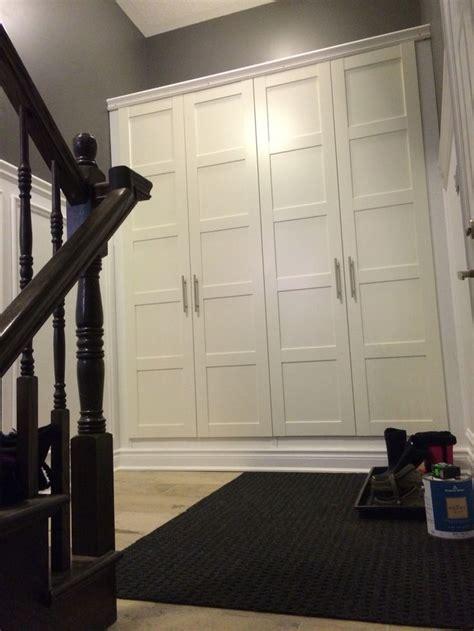 mudroom storage  ikea pax wardrobes home interior