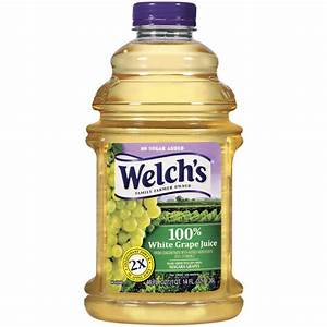 Welch's Bottled 100% White Grape Juice, 46 oz: Beverages ...