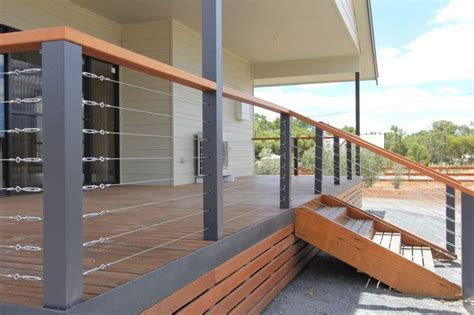 Timber deck with stainless wires. Shanes Stainless. www