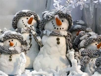 Snowman Desktop Christmas Wallpapers Background Computer Winter
