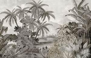 Papier Peint Ananbo : papier peint panoramique ananb tana grisaille ~ Melissatoandfro.com Idées de Décoration