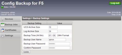 F5 Configuration Backups 30  Packet Pushers