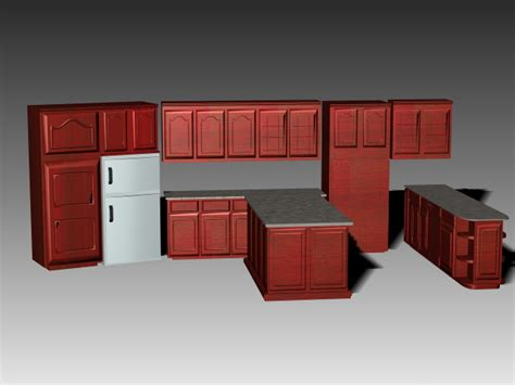 open kitchen  island  model dsmaxdsautocad files   modeling   cadnav