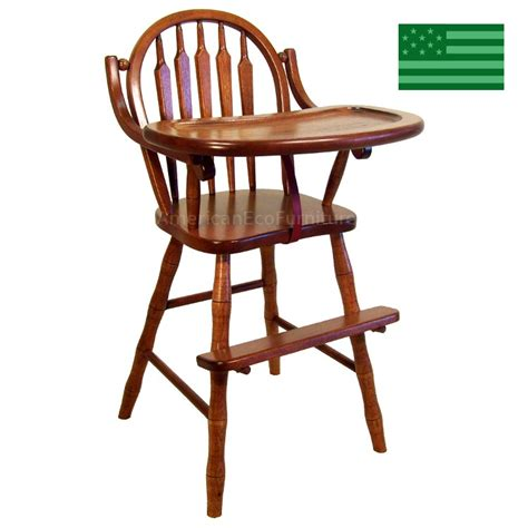 Amish Arrow Baby High Chair Solid Wood  Handcrafted Baby