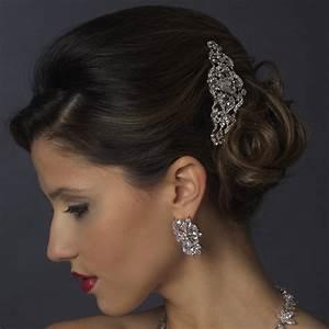 Flora Vintage Crystal Wedding Hair Comb Olivier Laudus