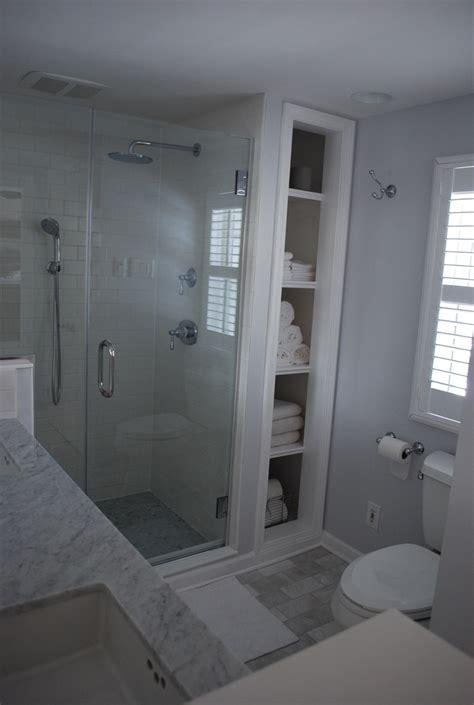 bathroom remodel white subway carrara marble floors and