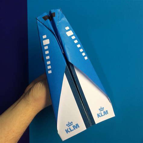 klm paper plane
