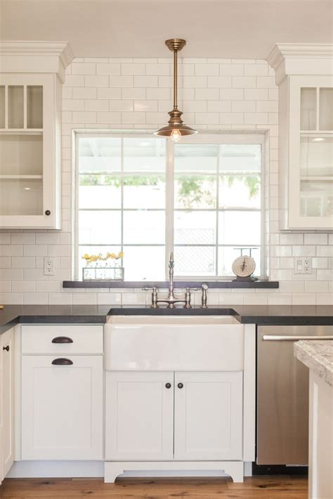windows kitchen sink farmhouse sink with overhead pendant light by 1541