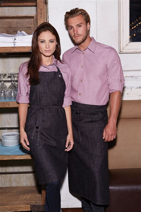 chambray shirts  waiter uniform restaurant uniforms