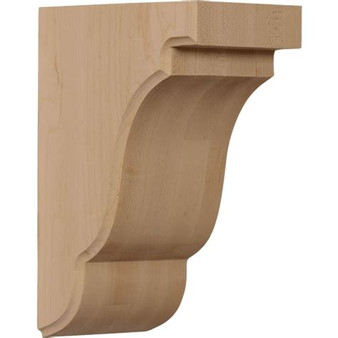 Wood Corbels And Brackets by Ekena Millwork 3 1 2 In X 14 In X 7 1 2 In Rubberwood