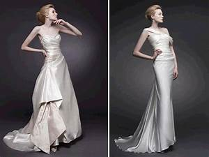 slinky silk ivory wedding dresses by peter langner With slinky wedding dress