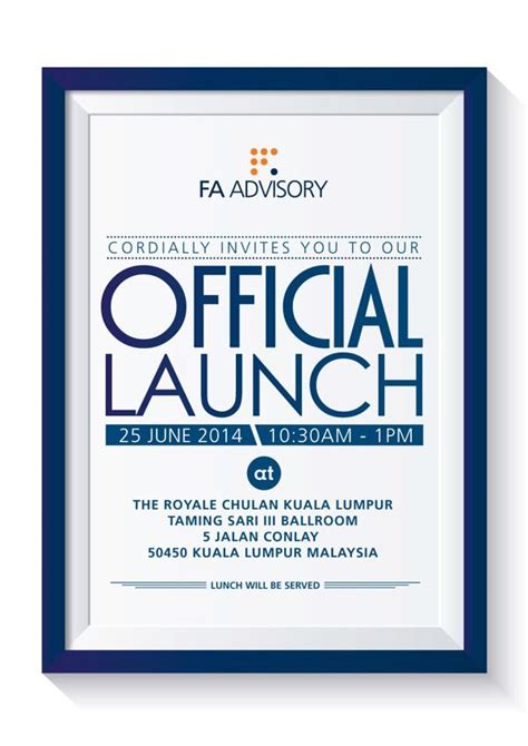 official launch invite  behance corporate invitation