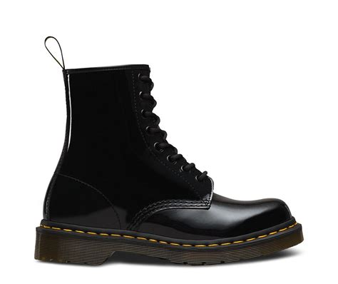 dr martens 1460 classic black patent leather 8 eye ankle boots