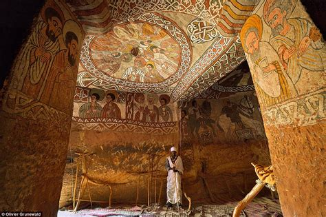 ethiopian cave churches carved  sandstone mountains
