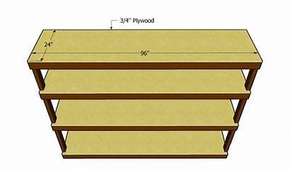 Plywood Shelf Plans Garage Shelves Shelving Storage