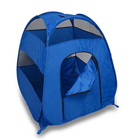 blue portable pop  pet tent medium large dogs cats discounttentsnova