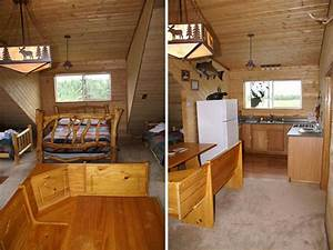 Wood cabin interior design ideas small cabin interior for Small cabin interior design ideas