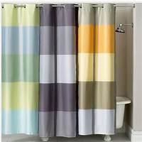striped shower curtains Martha Stewart Encore Stripe Shower Curtain Blue   eBay