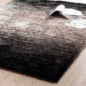 tapis edison poils longs bruns 160x230 maisons du monde With tapis a poils