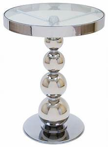 san juan round glass top side table contemporary side With small chrome coffee table