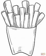 Coloring Fries French sketch template