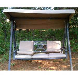 Patio Furniture Replacement Cushions Walmart by Lowes Coleman Three Person Swing Replacement Canopy 141501
