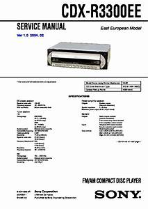 Sony Cdx-r3300ee Service Manual