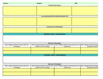 interactive  grade science lesson plan template