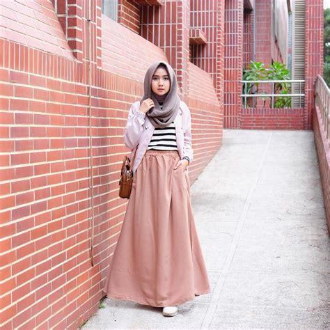 trend outfit rok  hijabers ala selebgram