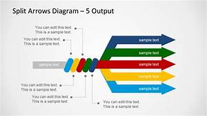 Split Arrows Diagram Template For Powerpoint