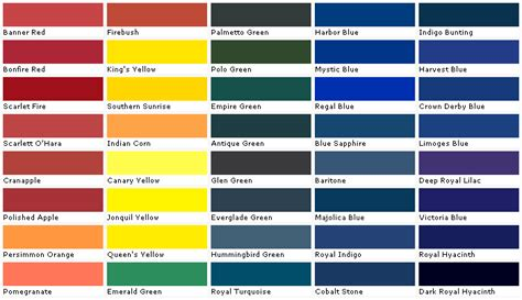 valspar interior paint color chart home painting
