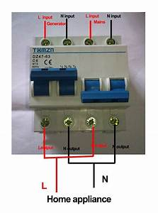 2p 25a Mts Dual Power Manual Transfer Switch Circuit