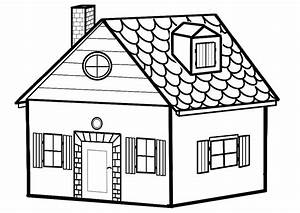 maison coloriages autres With dessin de maison en bois