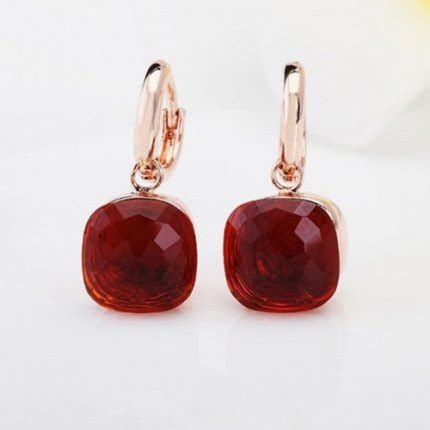 pomellato nudo replica replica pomellato nudo earrings in pink gold with garnet