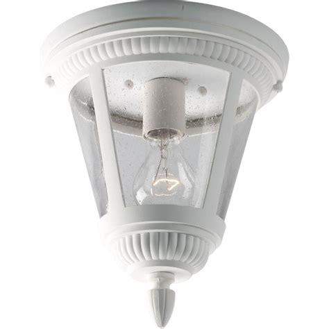single bulb flush mount light progress lighting p3883 30 white westport 9 quot single light