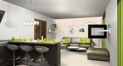 deco salon cuisine idee deco cuisine ouverte sur salon galerie et idee