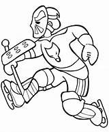 Hockey Coloring Goal Player Amazing Keeper Netart sketch template