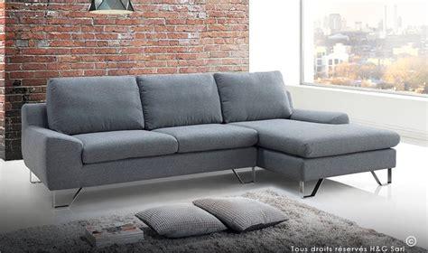 canapé d angle en tissu pas cher canape design en tissu gris tendance et pas cher kent