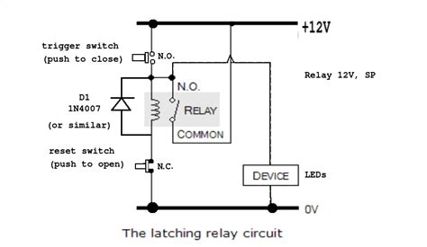 How Make Latching Unlatching Relay Circuit With