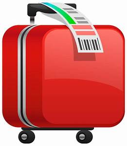 Checked red suitcase clipart image - Cliparting.com
