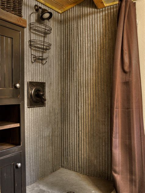 rustic shower home design ideas pictures remodel  decor